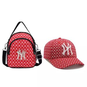 Small mini luxury backpack unisex , purse and hat